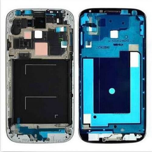 For Galaxy S4 GSM i337/M919/i9505 Mid-Frame with Home Button – Black