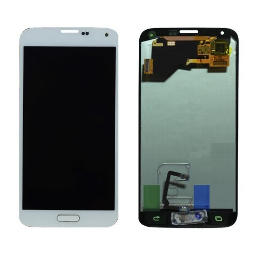 For Galaxy S5 LCD with Digitizer (No Logo) – White