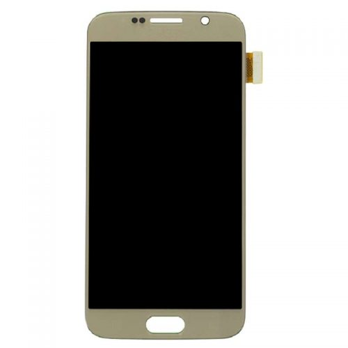 For Galaxy S6 LCD with Digitizer (No Logo) – Gold
