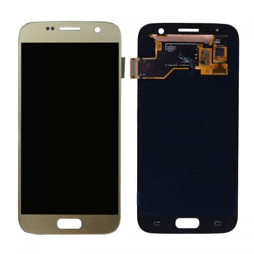 For Galaxy S7 LCD with Digitizer (No Logo) – Gold
