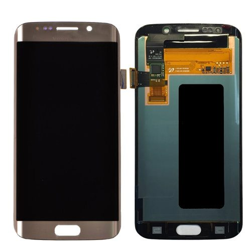 For Galaxy S6 Edge LCD with Digitizer (No Logo) – Gold