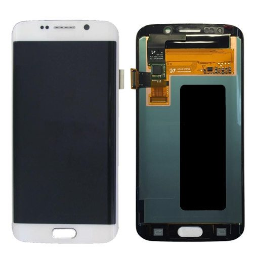 For Galaxy S6 Edge LCD with Digitizer (No Logo) – White
