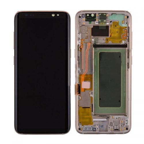 For Galaxy S8 Plus LCD Assembly With frame – Gold Frame