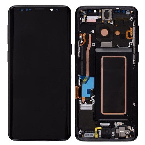 For Galaxy S9 OLED Assembly With frame – Midnight Black Frame