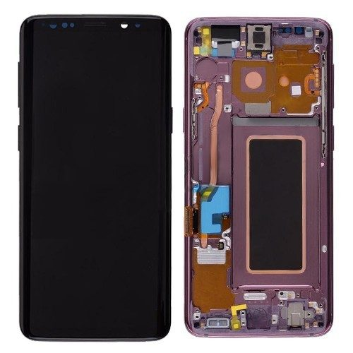 For Galaxy S9 OLED Assembly With frame – Lilac Purple Frame