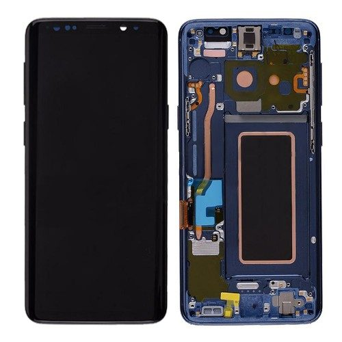 For Galaxy S9 Plus OLED Assembly With frame – Coral Blue Frame